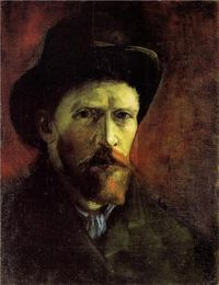 Self-Portrait with Dark Felt Hat, 1886, Vincent van Gogh