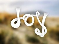 Ribbon Typography #3 Joy by Beau Hankins