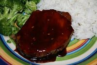 Sticky Pork Chops.