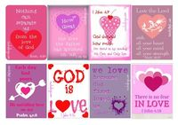 Free Printable Valentines with Bible verses about God's love