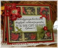 Beautiful Christmas card with Ephesians 2:8 on the front.
