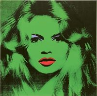 Andy Warhol Brigitte Bardot, 1974 Acrylic, silkscreen ink and pencil on linen, 47 1/4 x 47 1/4 inches