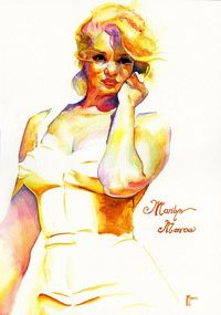 Marilyn Monroe Watercolour by ~indi1288 on deviantART || This image first pinned to Marilyn Monroe Art board, here: http://pinterest.com/fairbanksgrafix/marilyn-monroe-art/ ||