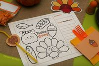 Cute coloring page for the kids at thanksgiving