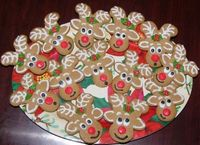 Upside down gingerbread man = reindeer!