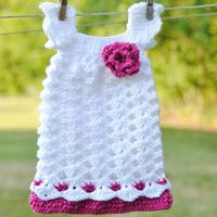 Crochet newborn dress