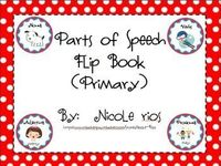 FREE Parts of Speech Flipbook