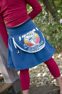 Turn a t-Shirt into a Funky Apron Skirt for a little girl. cute!