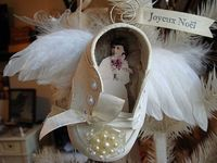 baby shoe angel wings ornament