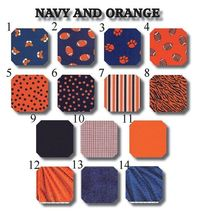 Tigers of Navy and Orange custom made to order by LullabyGardens,