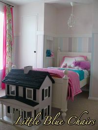 Girls Room Makeover With Striped Walls