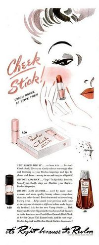Love this vintage Revlon illustration.
