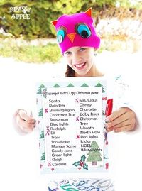 Free printable Holiday Scavenger List from BrassyApple