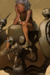 robot and girl by ~cuson on deviantART