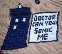 Doctor Who Crochet Bag