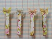 Beautiful Butterfly Clothespins | May Arts - want to make something similar to go in my kitchen on the fridge - also tempted to make a photo holder like the one featured, maybe for notes for the craft room? - love the look of these - can also decorate by ...