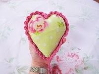 Fabric and Crochet Heart Tutorial
