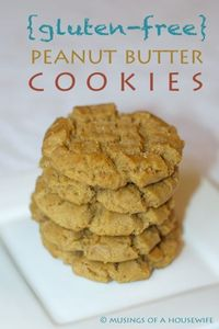 Gluten Free Peanut Butter Cookies via Jo-Lynne Shane's Musings of a Housewife #glutenfree #cookies #recipes