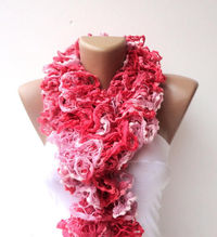 long scarves ruffle knitting,scarf women hand knitted ruffled scarf