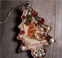 Cookie Cutter Ornament Made from a Vintage Tree Cookie Cutter