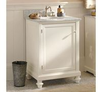 Powder room Classic Turned-Leg Single Mini Sink Console | Pottery Barn
