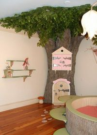 Tree toy storage and shelves