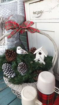 Ash Tree Cottage ~ Christmas on the porch 2012