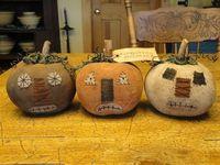Primitive Cloth Handmade Forgotten Pumpkins by kittredgemercantile