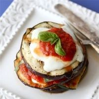 Grilled Zucchini & Eggplant Parmesan is a healthy & really tasty version of the classic.