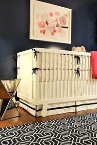 Pink and Navy Girl's Room