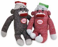 Christmas sock monkey!