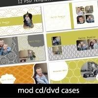 cd dvd case templates