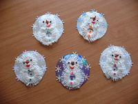 crafts for kids: cuties snowman tutorial - crafts ideas - crafts for kids