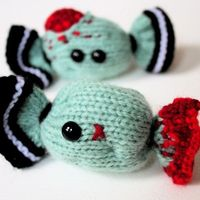 Knit your own Creepy Halloween Candy - Zombie