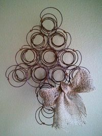 Rusty Bed Springs turned Christmas tree