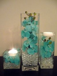 Flowers, Reception, Centerpiece, Ceremony, Wedding, Blue, Inspiration, Board, Bridal, Teal, Turquoise, Silk, Savannah event decor