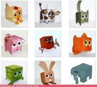 We tried these and enjoyed making them. The kids had such fun too. Free printables available at http://paperboxworld.weebly.com/the-boxes.html