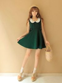 cute like an elf green dress