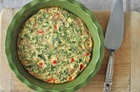 Crustless Vegetable Quiche by Corner Kitchen