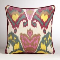 Berry Milika Ikat Velvet Throw Pillow-Berry Milika Ikat Velvet Throw Pillow | World Market