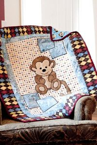 Jennys Quilts & Blankets: Monkey Baby Blanket Raffle at the Madison Street Festival