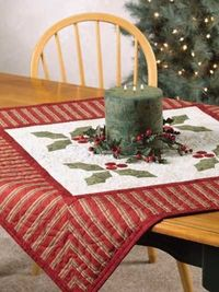 Festive Holly Table Cover