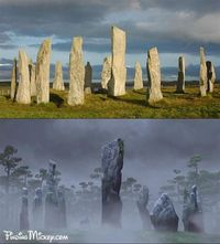 The stone circle from Disney·Pixar'sBrave is based on the Callanish Stones, an ancient site found near the village of Callanish in Scotland's Western Isles.