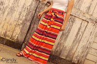 gathered maxi skirt with sash!