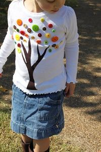 fall button tree shirt