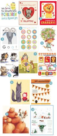 We Love to Illustrate: January We Love to Illustrate 2012 Round Up!