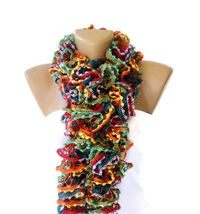 scarf,Knit Ruffled Scarf,multicolor scarf,2013 NEW TREND