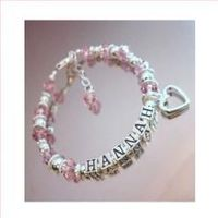 Personalized Silver and Crystal Bracelet - HANNAH