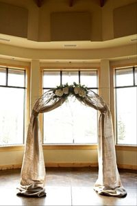 burlap wedding arch