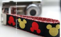 Friend of a friend I met on the Disney Cruise makes these.... LOVE IT! Hey Mickey Camera Wrist Strap Point and Shoot by RedBarnScrapbook, $8.50